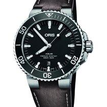 Oris Steel Automatic Black No numerals 43.5mm new Aquis Date
