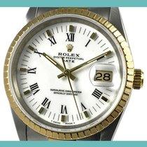 Rolex Oyster Perpetual Date Acero y oro 34mm Blanco Romanos España, Barcelona