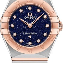 Omega Constellation Goud/Staal 25mm Blauw