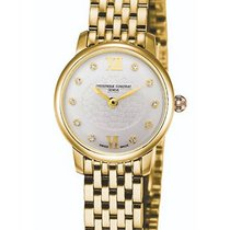 Frederique Constant Yellow gold Quartz Mother of pearl new Slimline Mini