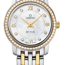 Omega De Ville Prestige Gold/Steel 24.4mm Mother of pearl United States of America, New York, Airmont