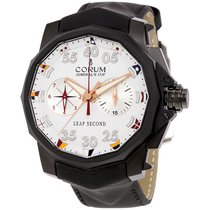 Corum Admirals Cup Leap Seconds 48mm white dial