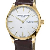 Frederique Constant Yellow gold Quartz Silver No numerals 40mm new Manufacture Classic