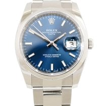 Rolex Oyster Perpetual Date 115200 blue dial