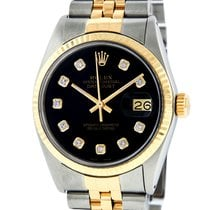Rolex Datejust Gold/Steel 36mm Black United States of America, California, Los Angeles