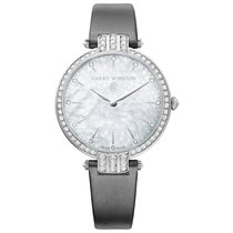 Harry Winston White gold 36mm Quartz PRNQHM36WW001 new