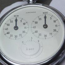 Junghans używany Manualny 50mm Biały Szkiełko plastikowe