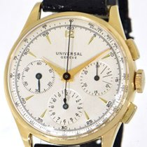 Universal Genève Yellow gold 37mm Manual winding Compax pre-owned