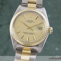 Rolex Oyster Perpetual Date Χρυσός / Ατσάλι 35mm Χρυσό