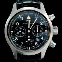 IWC Pilot Chronograph Staal 36mm Zwart Arabisch