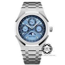 Audemars Piguet Royal Oak Perpetual Calendar Platin 41mm Mavi