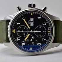 IWC Pilot Chronograph Acero 43mm Negro Árabes