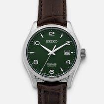 Seiko Presage Steel 40.5mm Green Arabic numerals