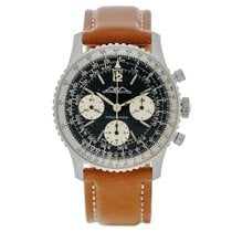 Breitling Navitimer pre-owned Black Chronograph Leather
