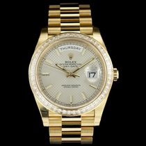 Rolex Day-Date 40 Yellow gold 40mm Silver United Kingdom, London