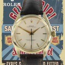 Rolex Oyster Perpetual 34 Ouro amarelo 35mm Prata Sem números