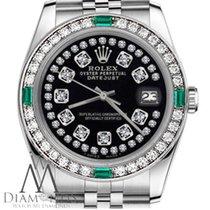Rolex Lady-Datejust Staal 31mm Zwart