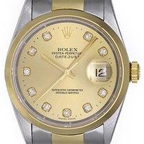 Rolex Men's Rolex Datejust Watch 16203 Champagne Diamond Dial
