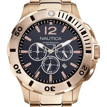 Nautica Men's N27524G BFD 101 Dive Style Gold-tone Chronograph...