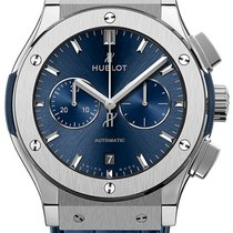 Hublot Classic Fusion Chronograph Titanium 42mm Blue No numerals United Kingdom, London