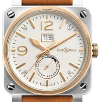 Bell & Ross BR 03-90 Grande Date et Reserve de Marche new Automatic Watch with original box BR-03-90-STEEL-ROSE-GOLD