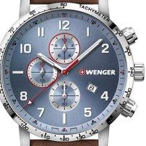 Wenger Steel 44mm Quartz 01.1543.114 new