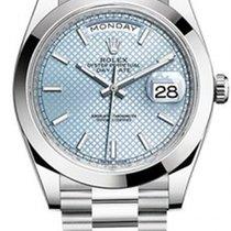 Rolex Day-Date 40 Platinum Blue