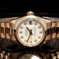 Rolex Or rose Remontage automatique Blanc Romain 26mm occasion Lady-Datejust