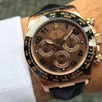 Rolex Daytona Růžové zlato 40mm Hnědá Arabské Česko, Praha