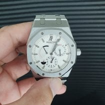 Audemars Piguet Royal Oak Dual Time usados 39mm Blanco Fecha GMT Acero