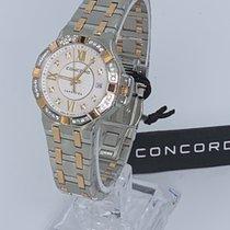 Concord new Quartz Gemstone Luminescent Hands 28mm Gold/Steel Sapphire crystal