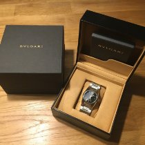 Bulgari Ergon Steel 30mm Black Arabic numerals