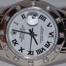 Rolex Lady-Datejust Pearlmaster 80319 Muito bom Ouro branco 29mm Automático