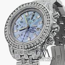 百年靈 (Breitling) Evolution A13356 Blue Mop Dial 18ct Diamond Watch