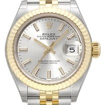 Rolex Lady-Datejust 28 279173 Silber Jubile-Band