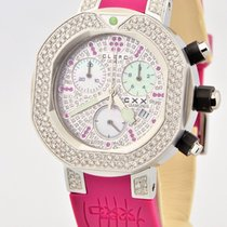 Clerc Cxx Scuba Diamond Ruby Stainless Steel Pink Swiss Quartz...