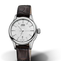 Oris CULTURA ARTELIER DATE DIAMONDS Silver Dial-Brown Strap 31mm