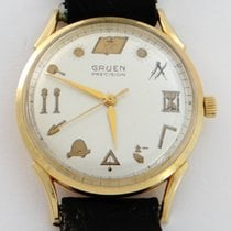 Gruen Precision Rare Masonic Dial Automatic in 14K Solid Gold