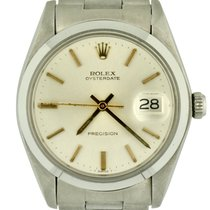 Rolex Steel Manual winding Silver No numerals 34mm new Oyster Precision