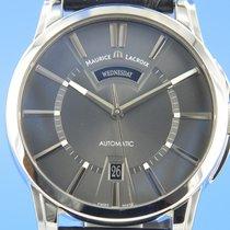 Maurice Lacroix Pontos Day Date Stahl 40mm Grau