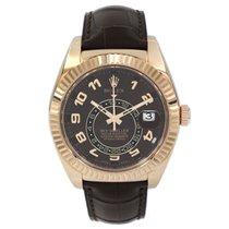 Rolex Sky-Dweller Rose gold 42mm Brown Arabic numerals