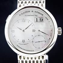 A. Lange & Söhne Lange 1 White gold 38.5mm Mother of pearl Roman numerals United States of America, Massachusetts, Boston