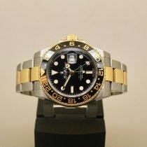 Rolex GMT-Master II Arany/Acél 40mm Fekete Számjegyek nélkül