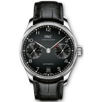 IWC Portuguese Automatic Acier Noir Arabes France, PARIS