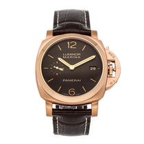 Panerai Luminor Marina 1950 3 Days Automatic pre-owned 42mm Brown Date Crocodile skin