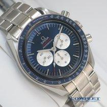 Omega Speedmaster Stahl 42mm Blau