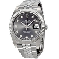 Rolex Steel Automatic Grey No numerals 41mm new Datejust