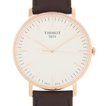 天梭  T-classic 18k Rose Gold White Quartz T109.610.36.031.00