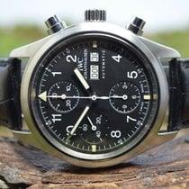 IWC 39mm Automatik gebraucht Fliegeruhr Chronograph Schwarz