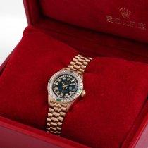 Rolex Lady-Datejust 69178-StrinhBlkDiam-8mill-BNP 1985 usados
